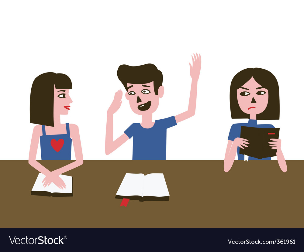 Talking in library vector | Price: 1 Credit (USD $1)