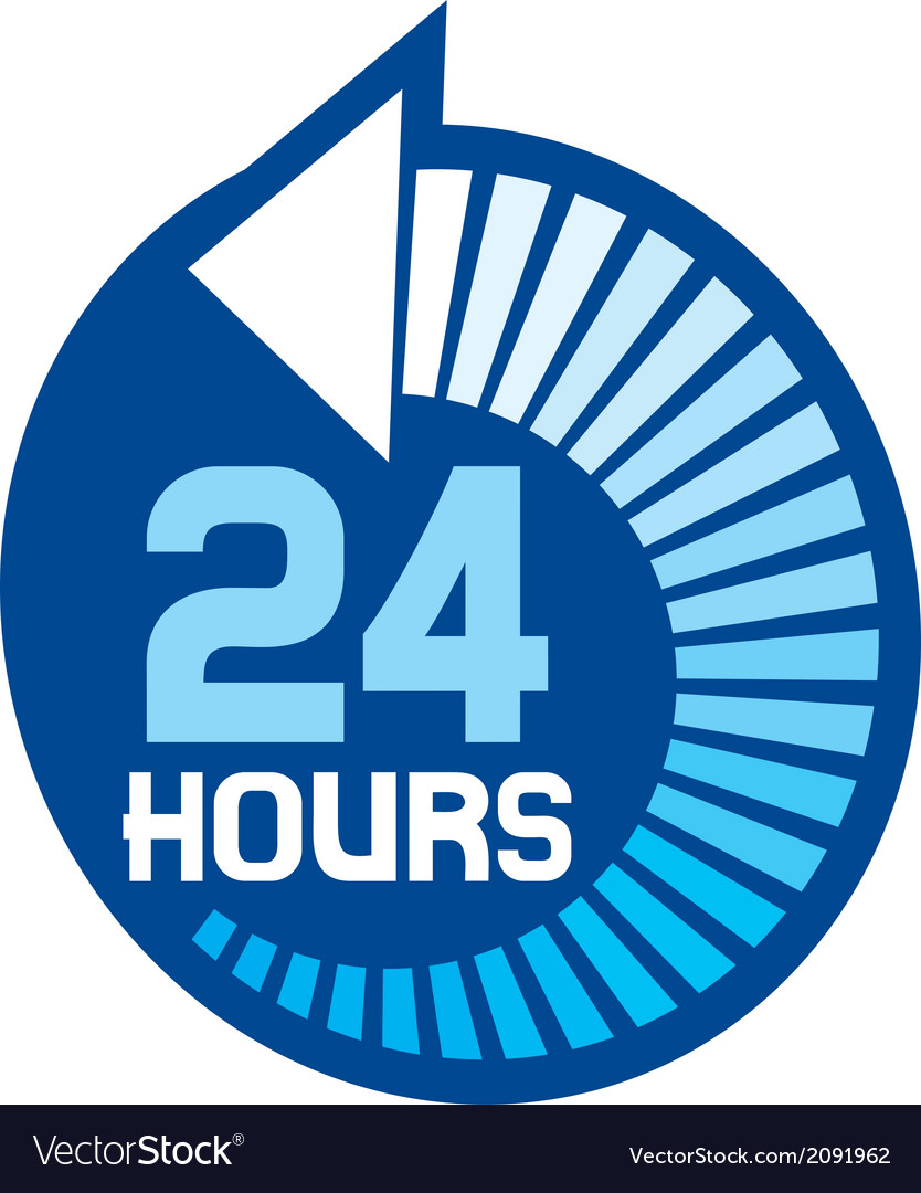 24 hours icon vector | Price: 1 Credit (USD $1)