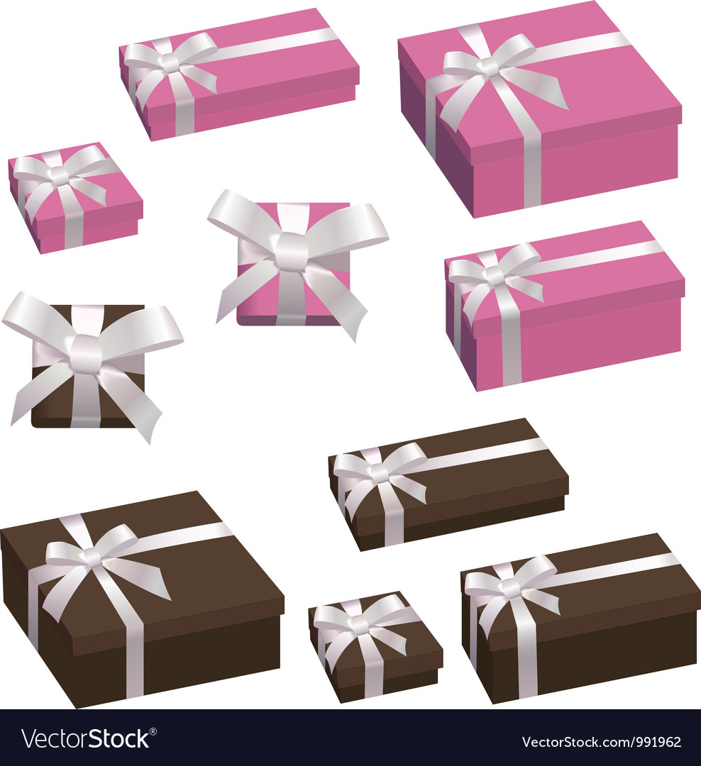A festive box with a bow vector | Price: 1 Credit (USD $1)