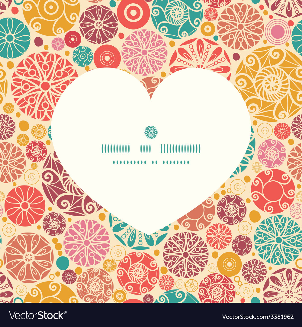 Abstract decorative circles heart silhouette vector | Price: 1 Credit (USD $1)