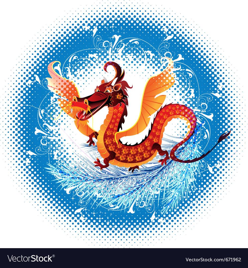 Abstract dragon vector | Price: 3 Credit (USD $3)