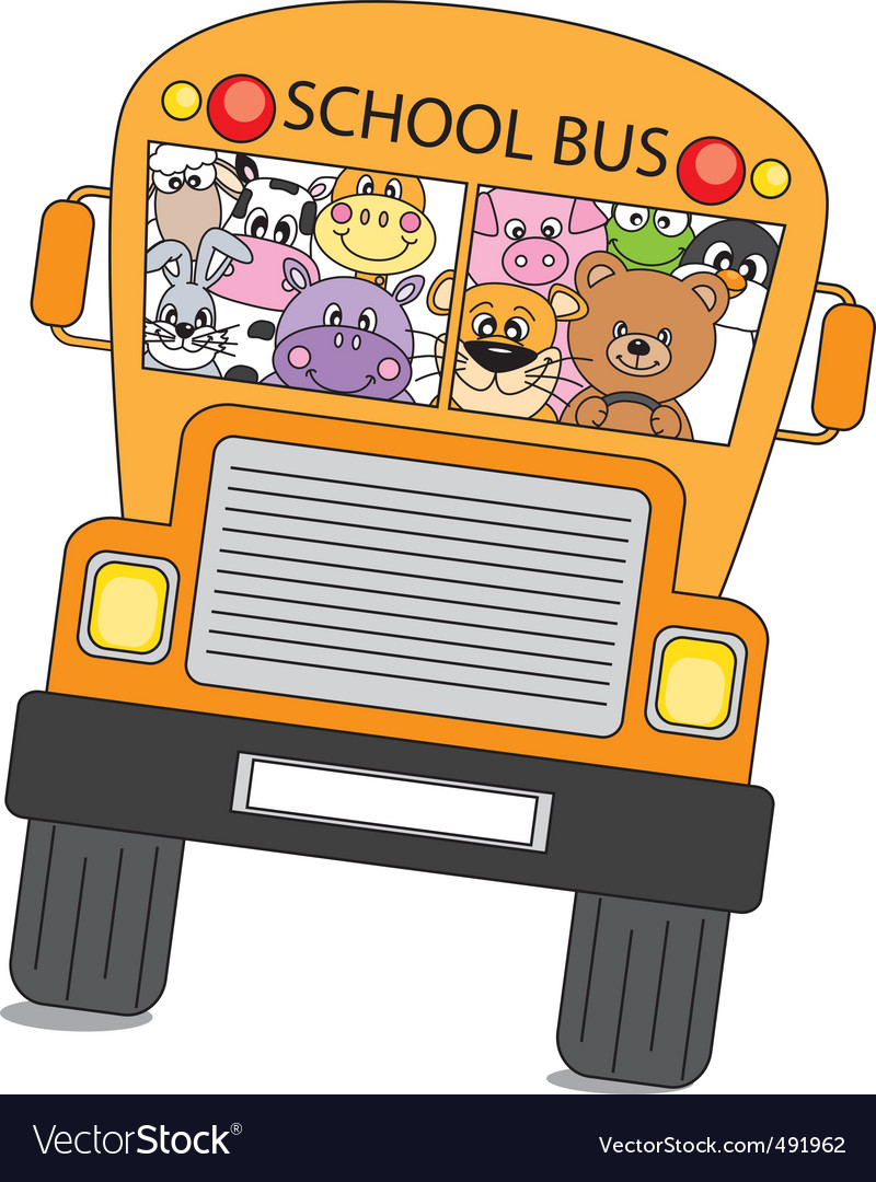 Animals bus vector | Price: 1 Credit (USD $1)