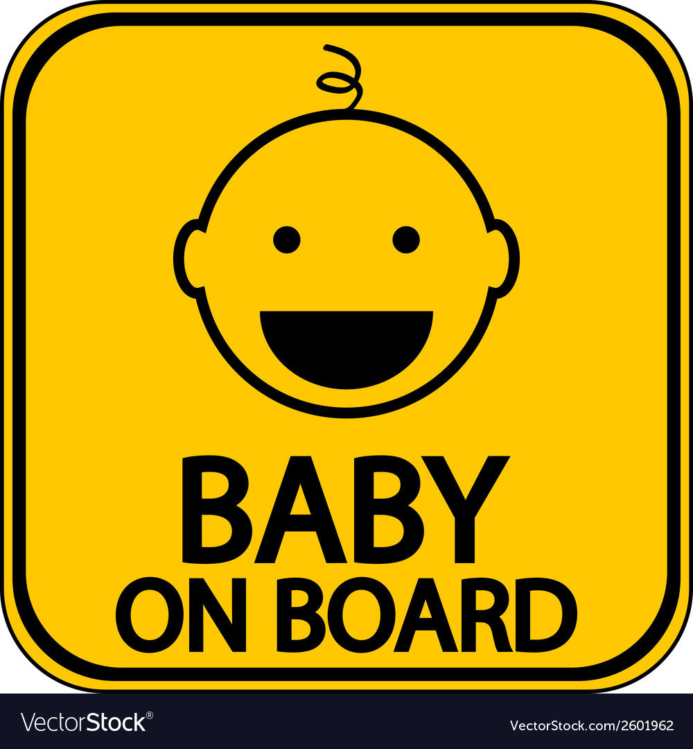 Baby on board sign vector | Price: 1 Credit (USD $1)