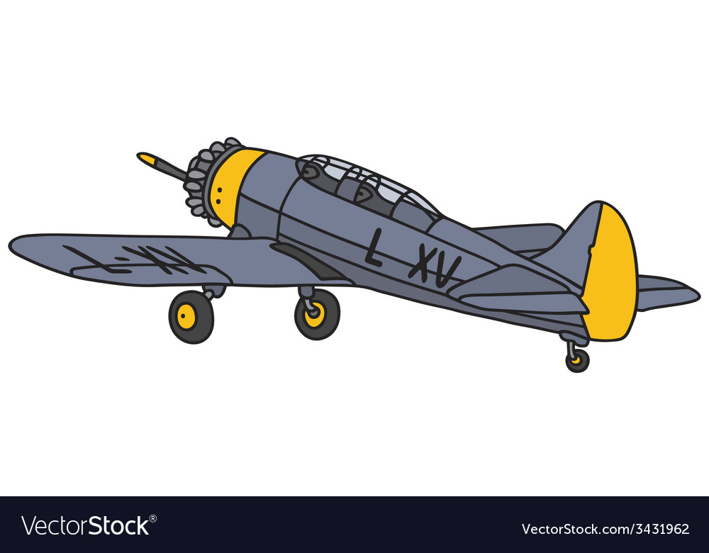 Blue airplane vector | Price: 1 Credit (USD $1)