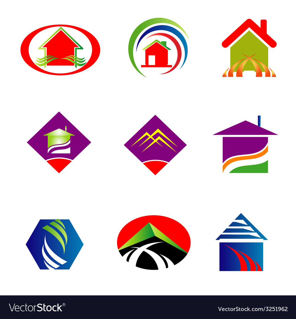 Collection of real estate logo vector | Price: 1 Credit (USD $1)