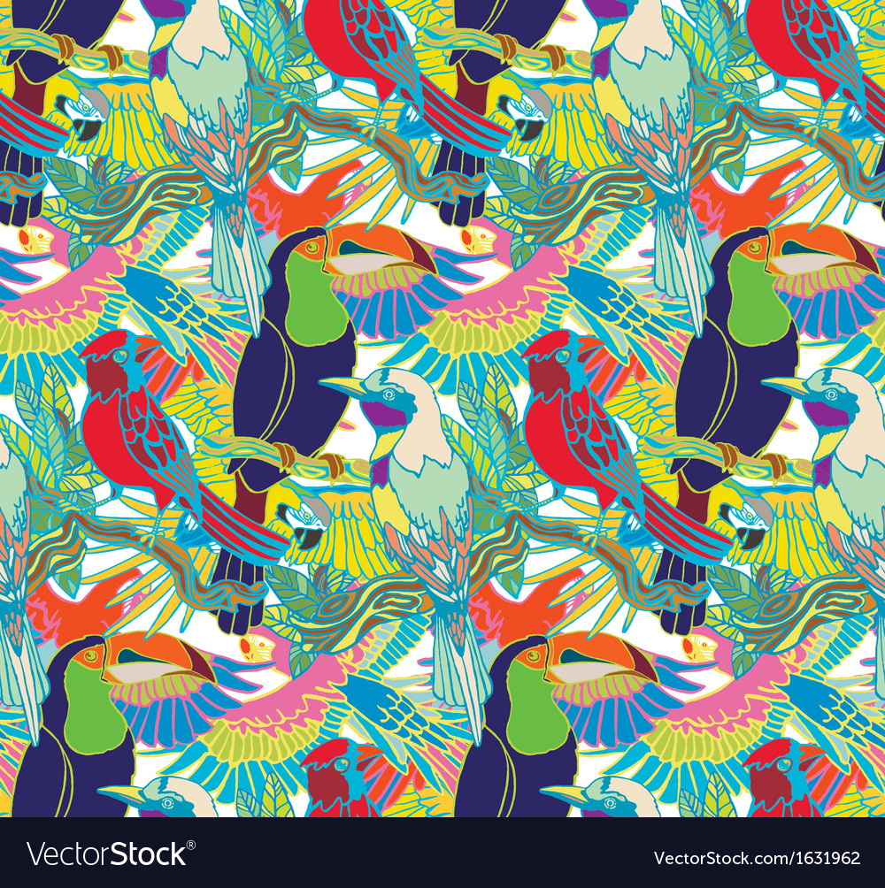 Exotic birds vector | Price: 1 Credit (USD $1)