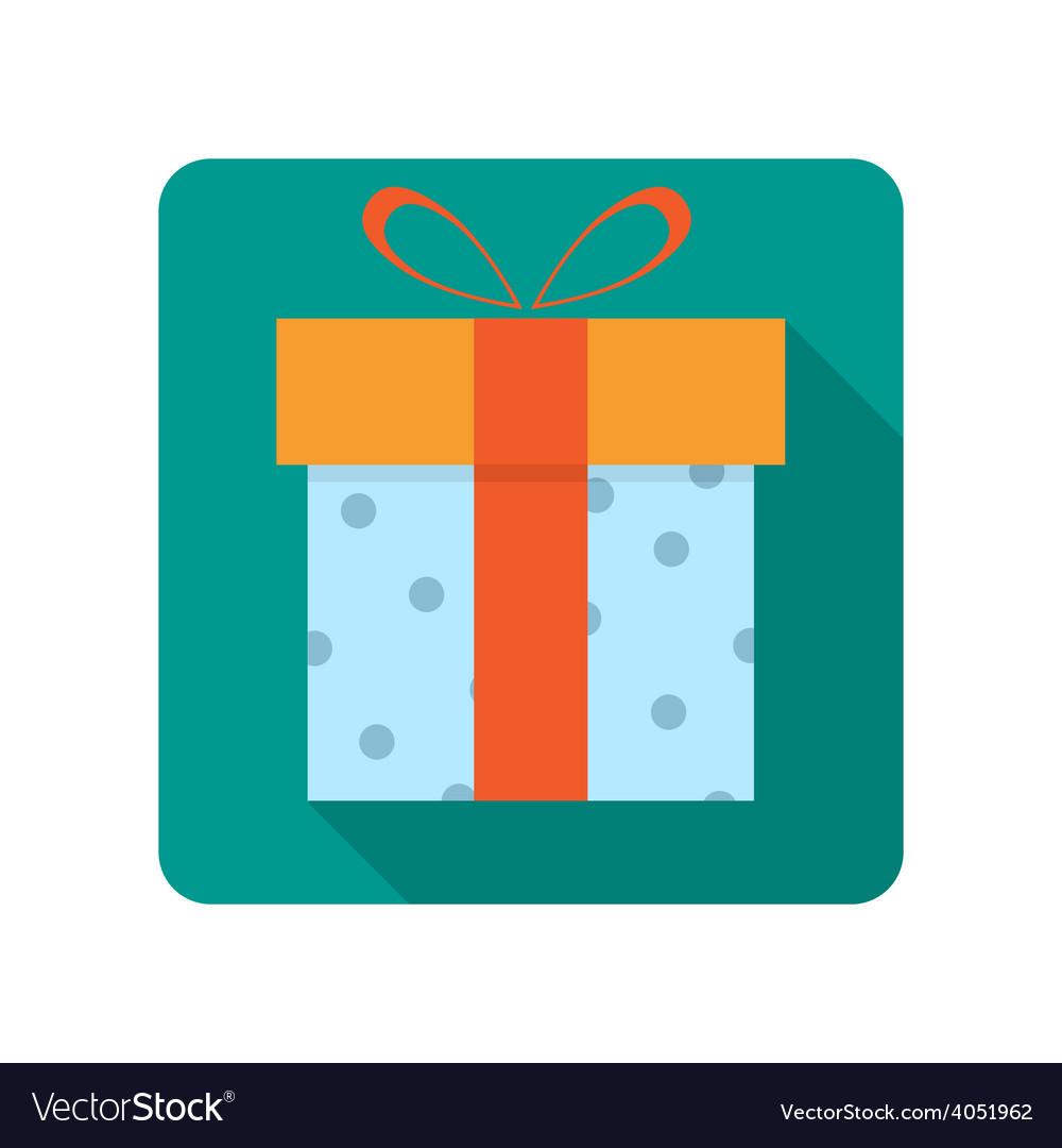 Gift box flat icon vector | Price: 1 Credit (USD $1)