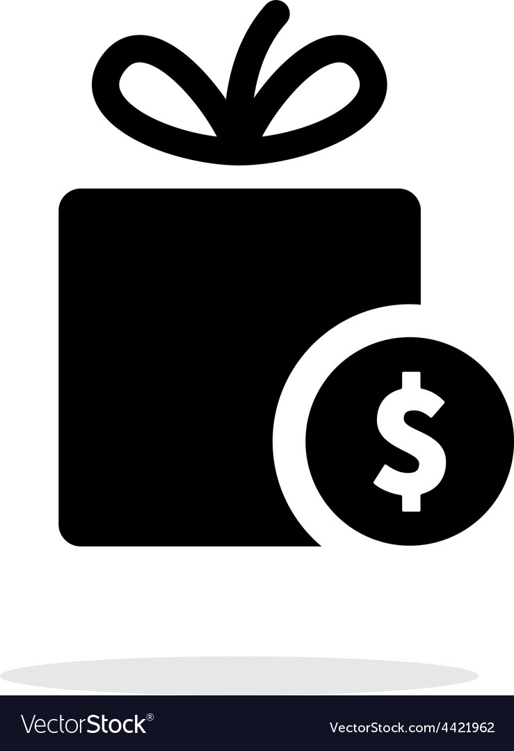 Gift with price tag icon on white background vector   Price: 1 Credit (USD $1)