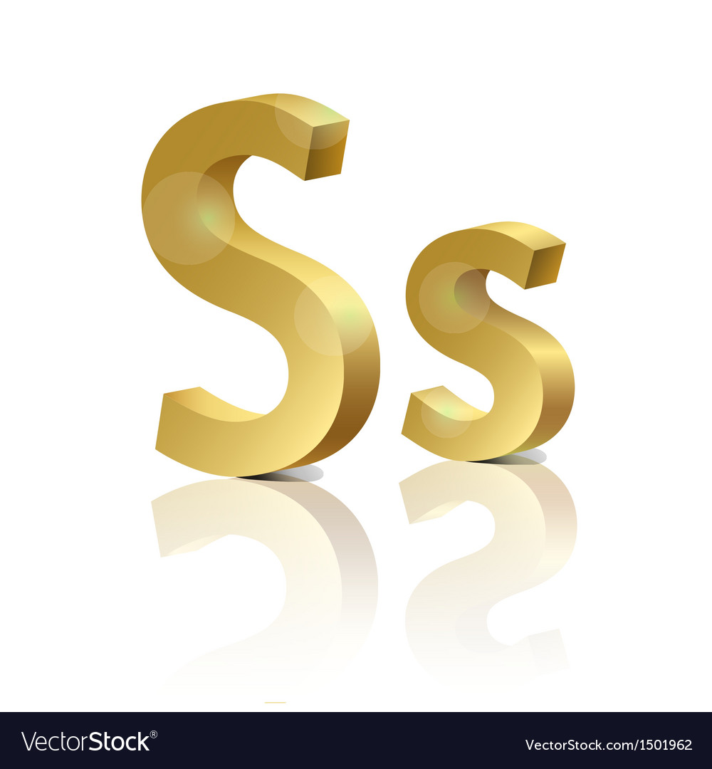 Golden letter s vector | Price: 1 Credit (USD $1)