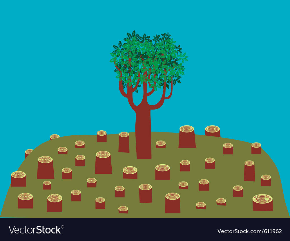 Last tree vector | Price: 3 Credit (USD $3)