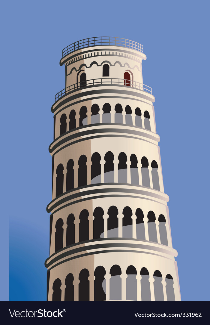 Pisa tower vector | Price: 1 Credit (USD $1)