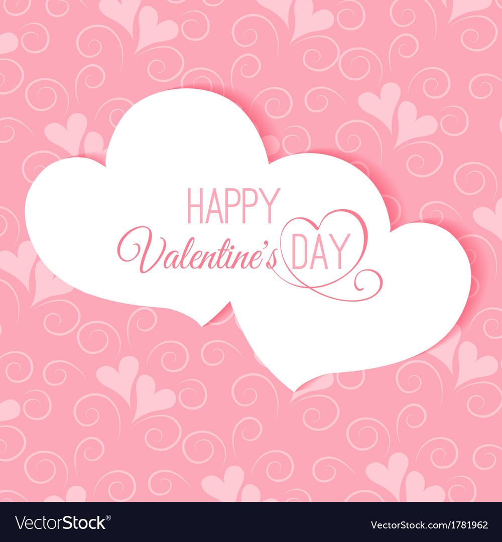Postcard happy valentines abstract vector | Price: 1 Credit (USD $1)