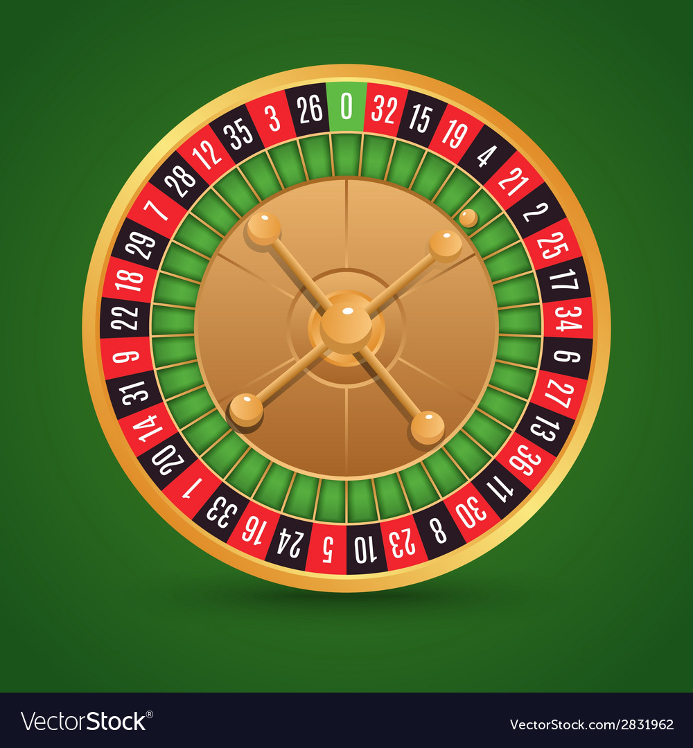 Realistic roulette isolated vector | Price: 1 Credit (USD $1)