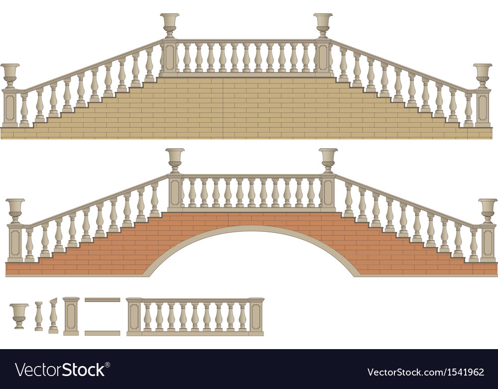 Two-way ladder and bridge vector | Price: 1 Credit (USD $1)