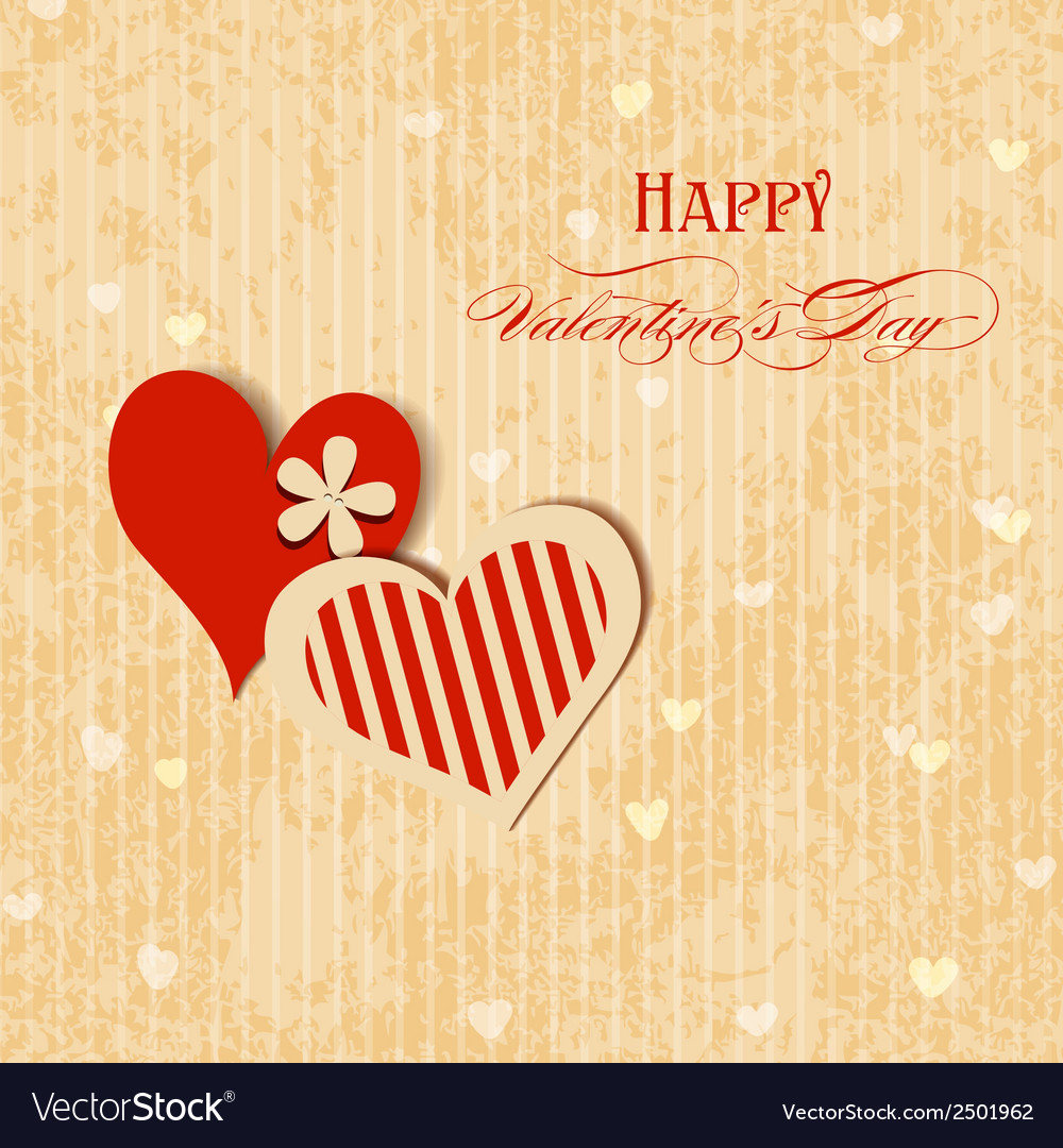 Valentine hearts greeting card vector | Price: 1 Credit (USD $1)