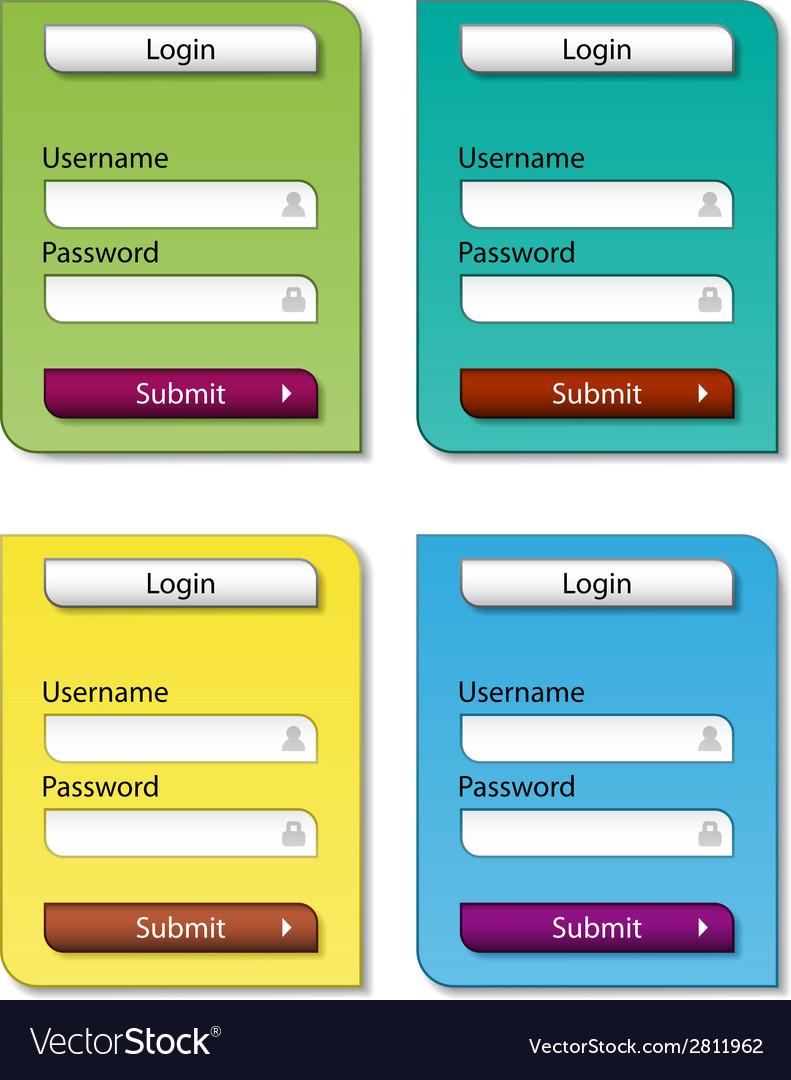 Web form design templates vector | Price: 1 Credit (USD $1)
