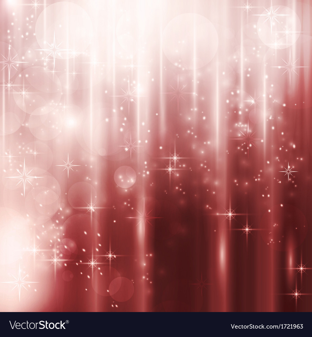 Cascades of light with stars and bokeh background vector