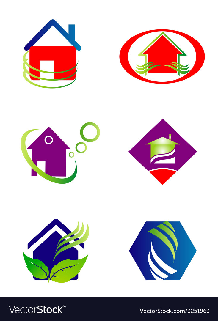 Collection of house and home logo vector | Price: 1 Credit (USD $1)