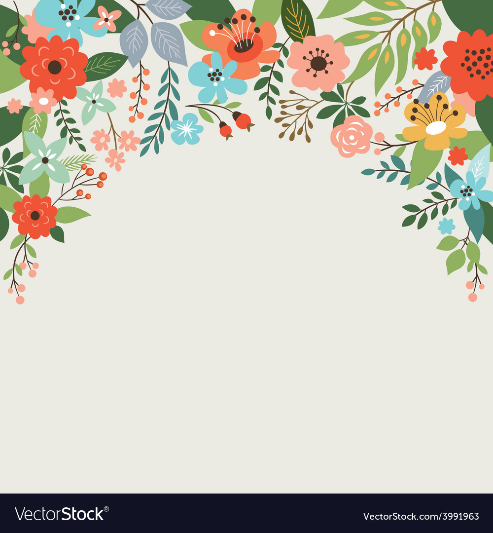 Floral design with place for text vector | Price: 1 Credit (USD $1)