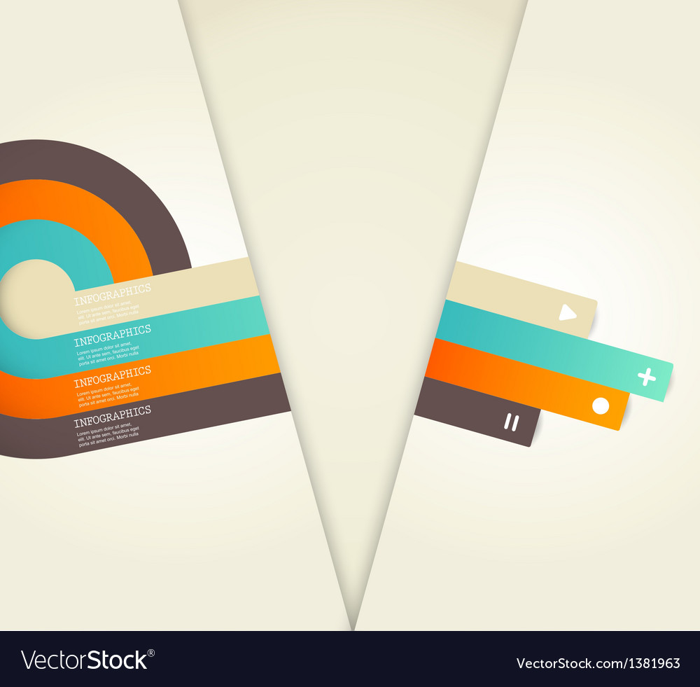 Four colored stripes with place for your own text vector | Price: 1 Credit (USD $1)
