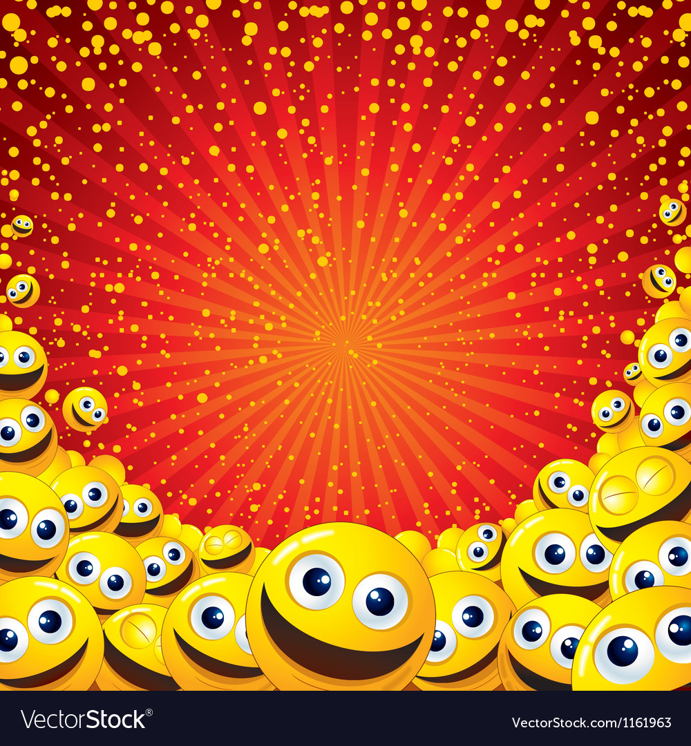 Joyful smiley background image with free space for vector | Price: 1 Credit (USD $1)