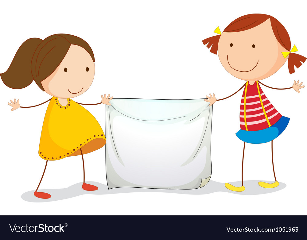 Kids holding a sign vector | Price: 3 Credit (USD $3)