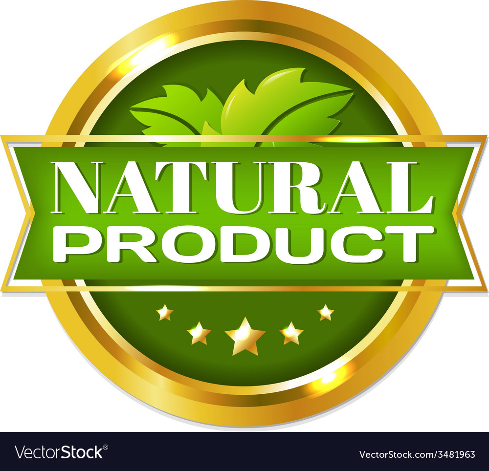 Natural product label vector | Price: 1 Credit (USD $1)