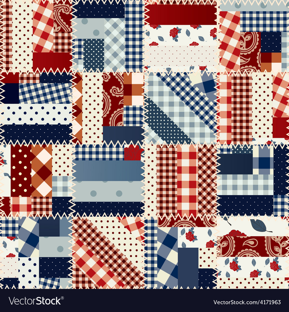 Patchwork in country style vector | Price: 1 Credit (USD $1)