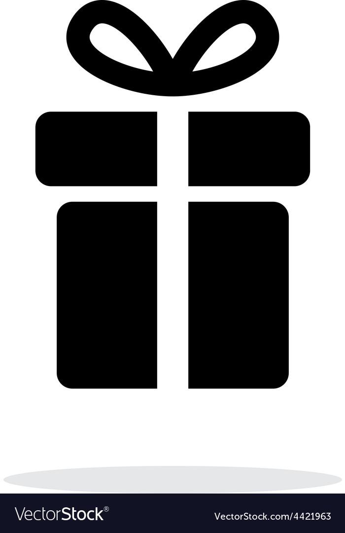 Present icon on white background vector | Price: 1 Credit (USD $1)