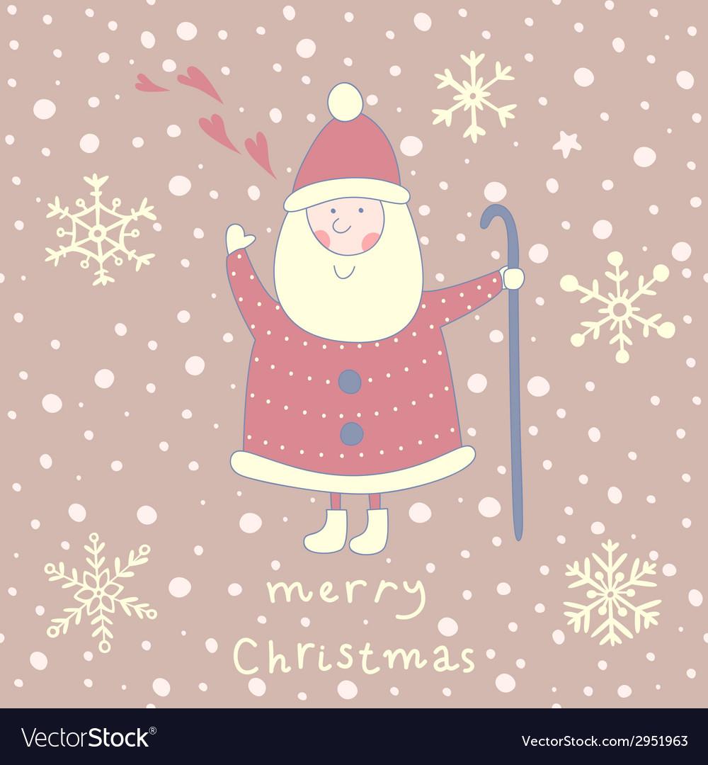 Santa greeting card vector | Price: 1 Credit (USD $1)