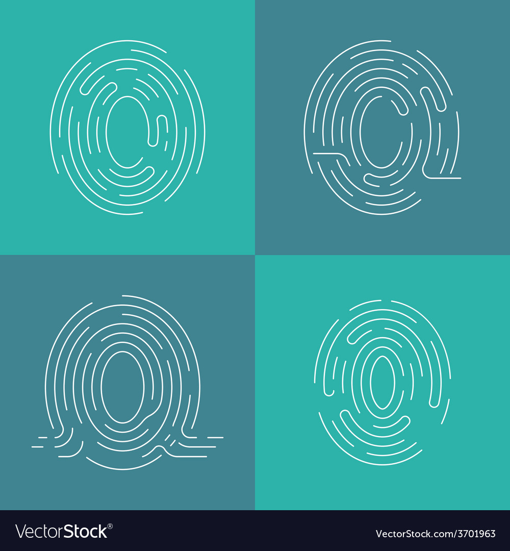 Set of icons fingerprint vector | Price: 1 Credit (USD $1)