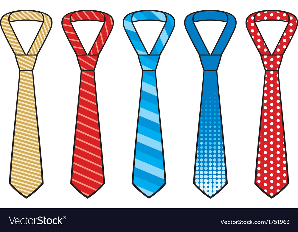 Set of male business ties vector | Price: 1 Credit (USD $1)