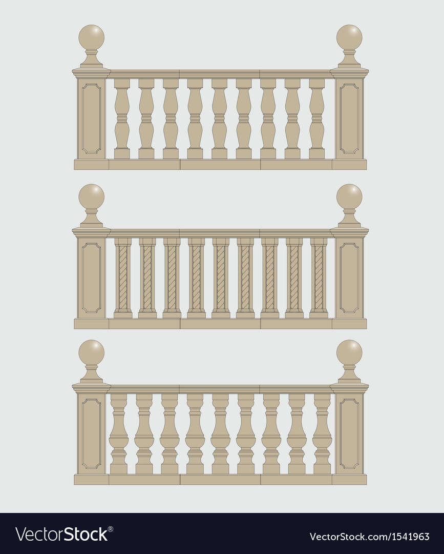 Set of silhouettes balustrades vector | Price: 1 Credit (USD $1)