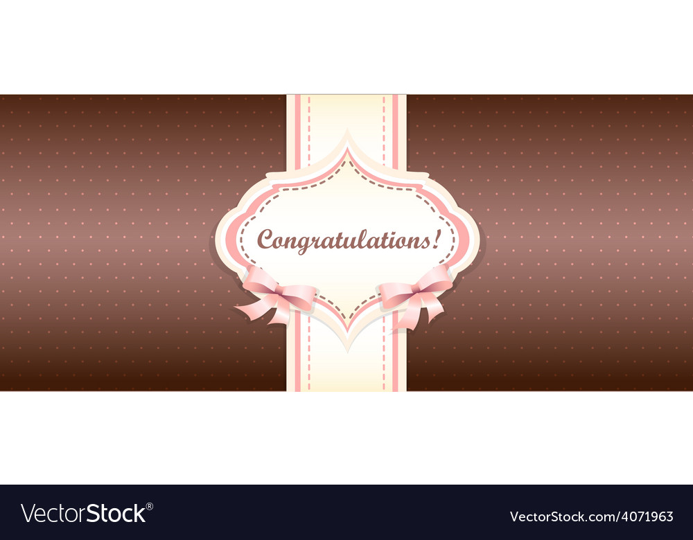 Shabby chic girly congratulations card swatch vector | Price: 1 Credit (USD $1)