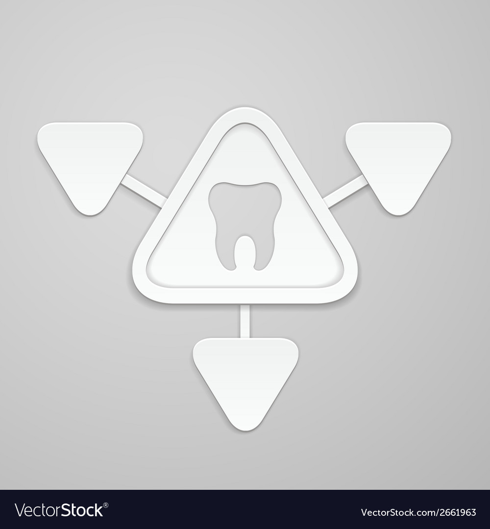 Tooth in and around triangle vector | Price: 1 Credit (USD $1)