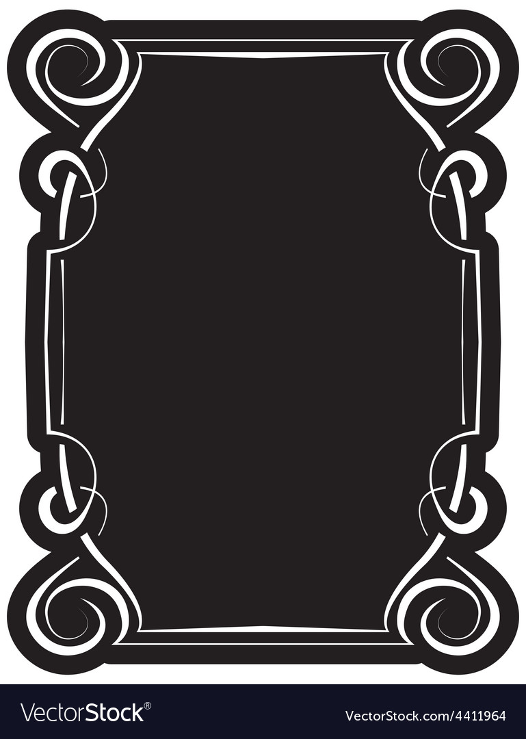 Black frame with elegant border vector   Price: 1 Credit (USD $1)