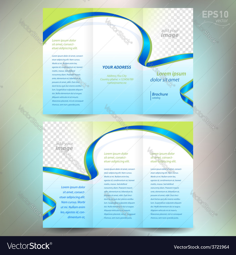 Brochure ribbon element band wave line vector | Price: 1 Credit (USD $1)