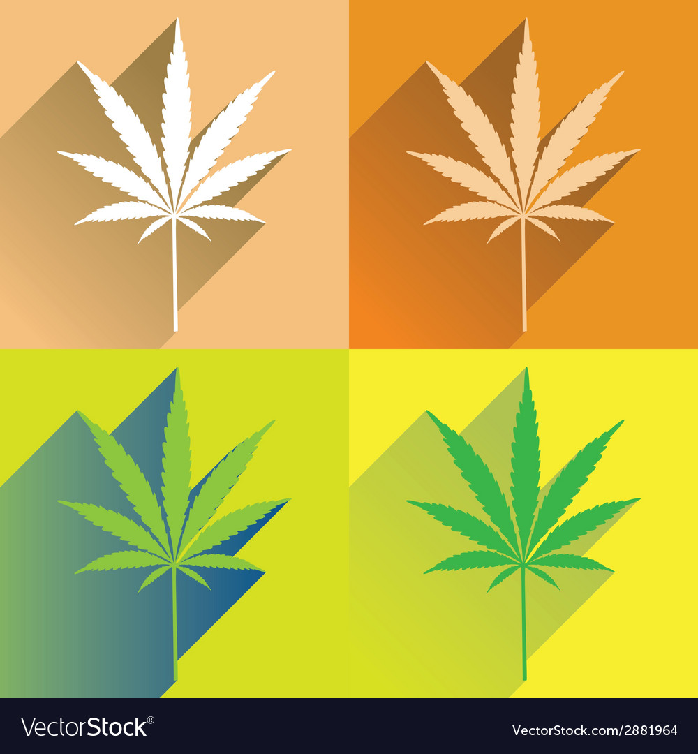Cannabisflat vector | Price: 1 Credit (USD $1)