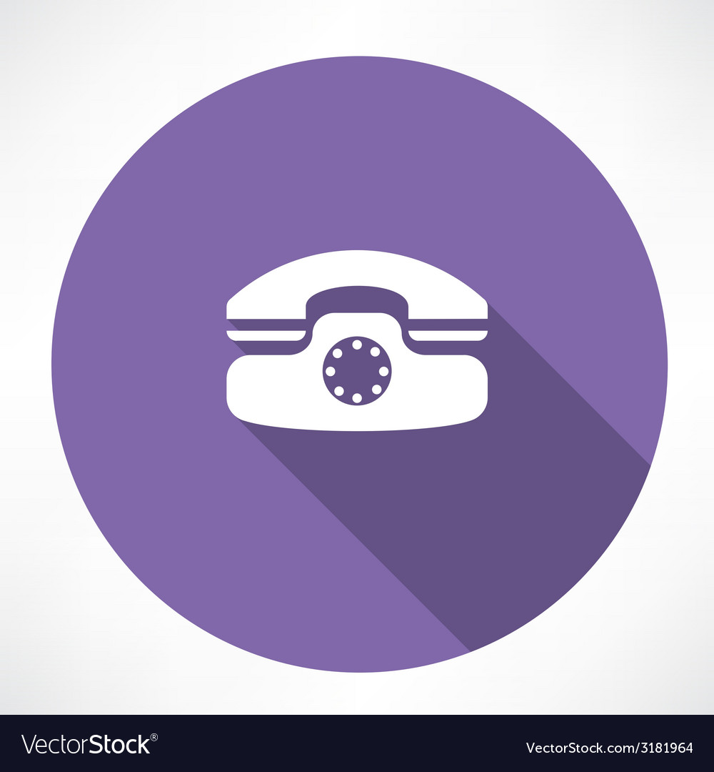 Landline phone icon vector | Price: 1 Credit (USD $1)