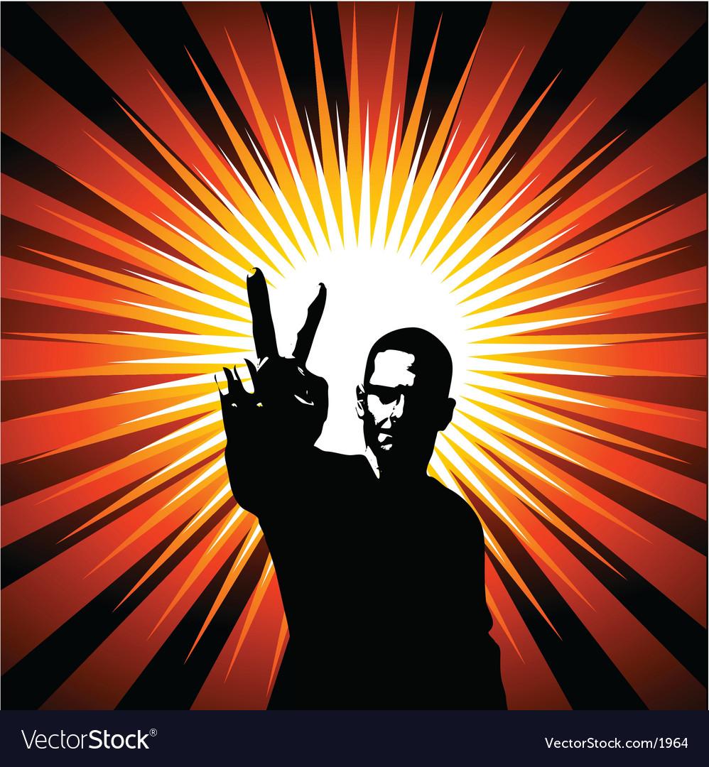Peace design vector | Price: 1 Credit (USD $1)