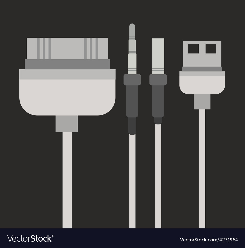 Plug and usb design vector | Price: 1 Credit (USD $1)
