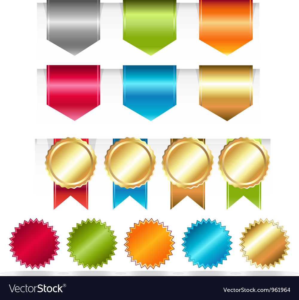 Ribbon and tabs vector | Price: 1 Credit (USD $1)