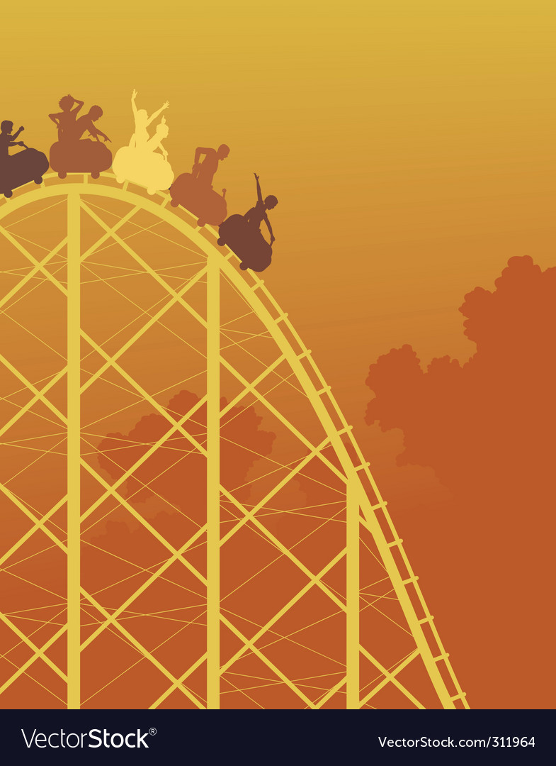 Rollercoaster ride vector | Price: 1 Credit (USD $1)