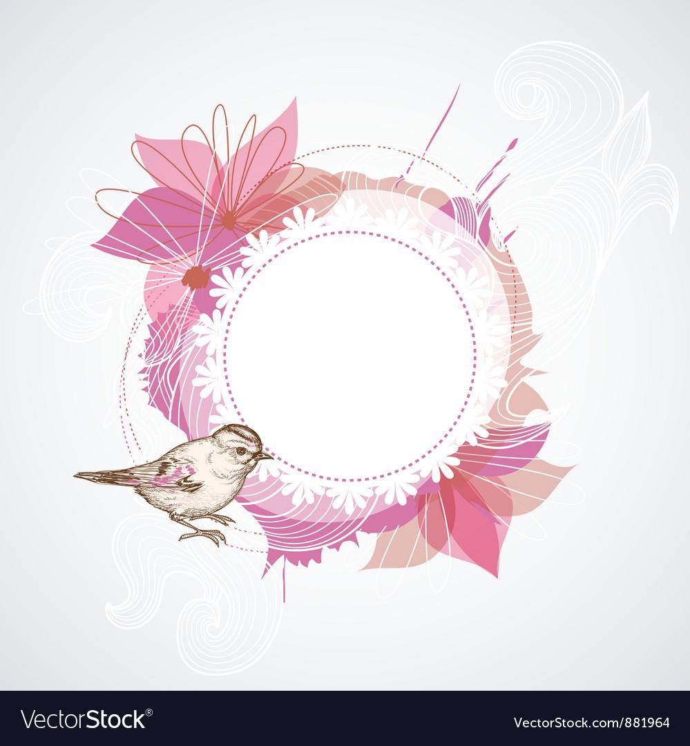 Summer floral frame vector | Price: 1 Credit (USD $1)