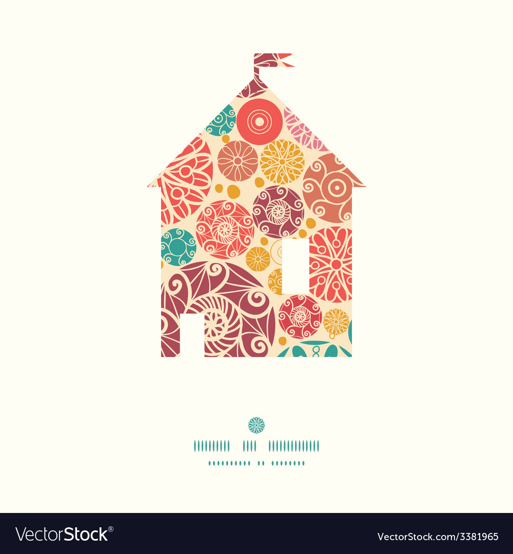 Abstract decorative circles house silhouette vector | Price: 1 Credit (USD $1)
