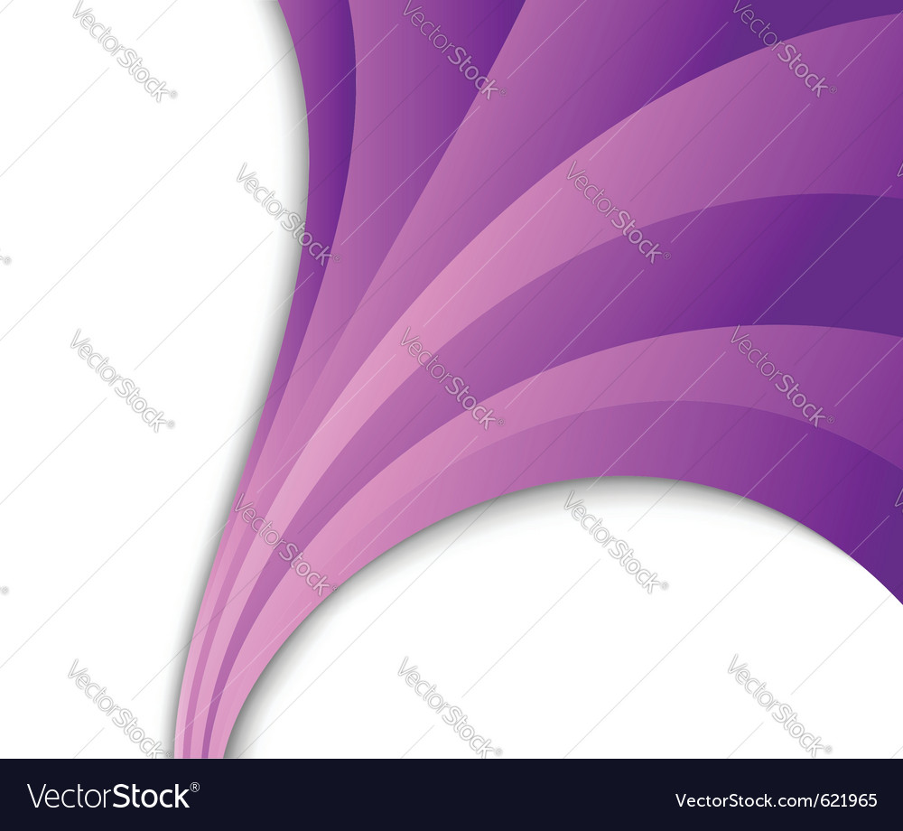 Abstract violet wave flow vector | Price: 1 Credit (USD $1)