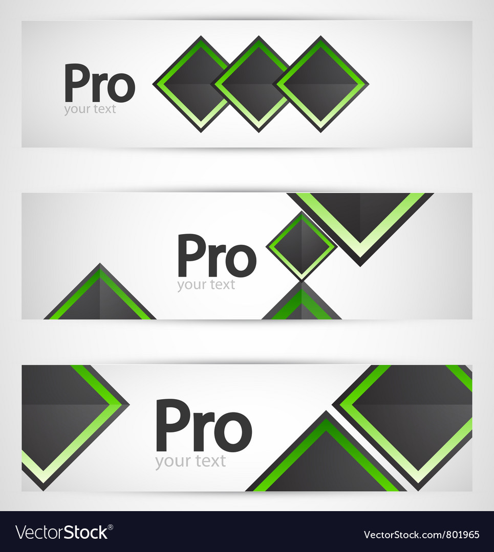 Business square banner set vector | Price: 1 Credit (USD $1)
