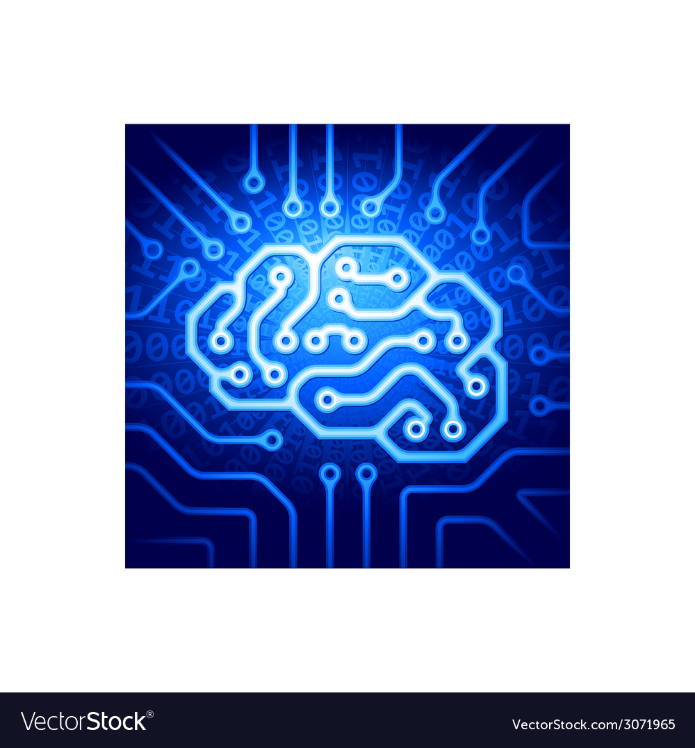 Cyber brain vector | Price: 1 Credit (USD $1)