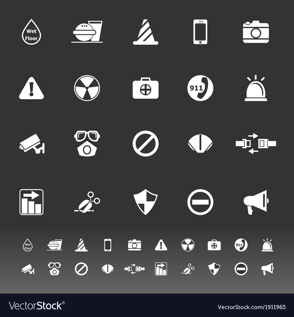 General useful icons on gray background vector | Price: 1 Credit (USD $1)