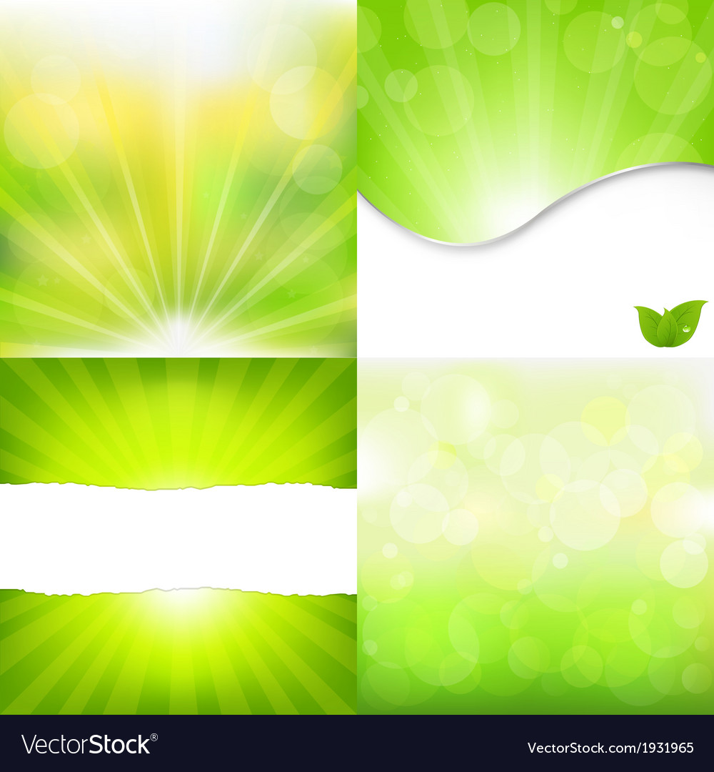 Green nature backgrounds vector | Price: 1 Credit (USD $1)